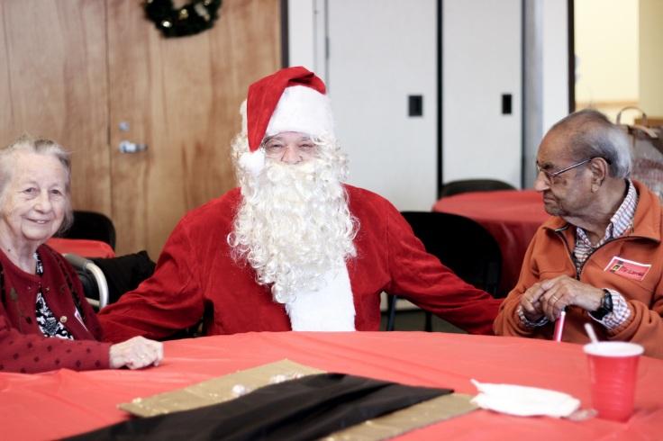kym's dad as santa
